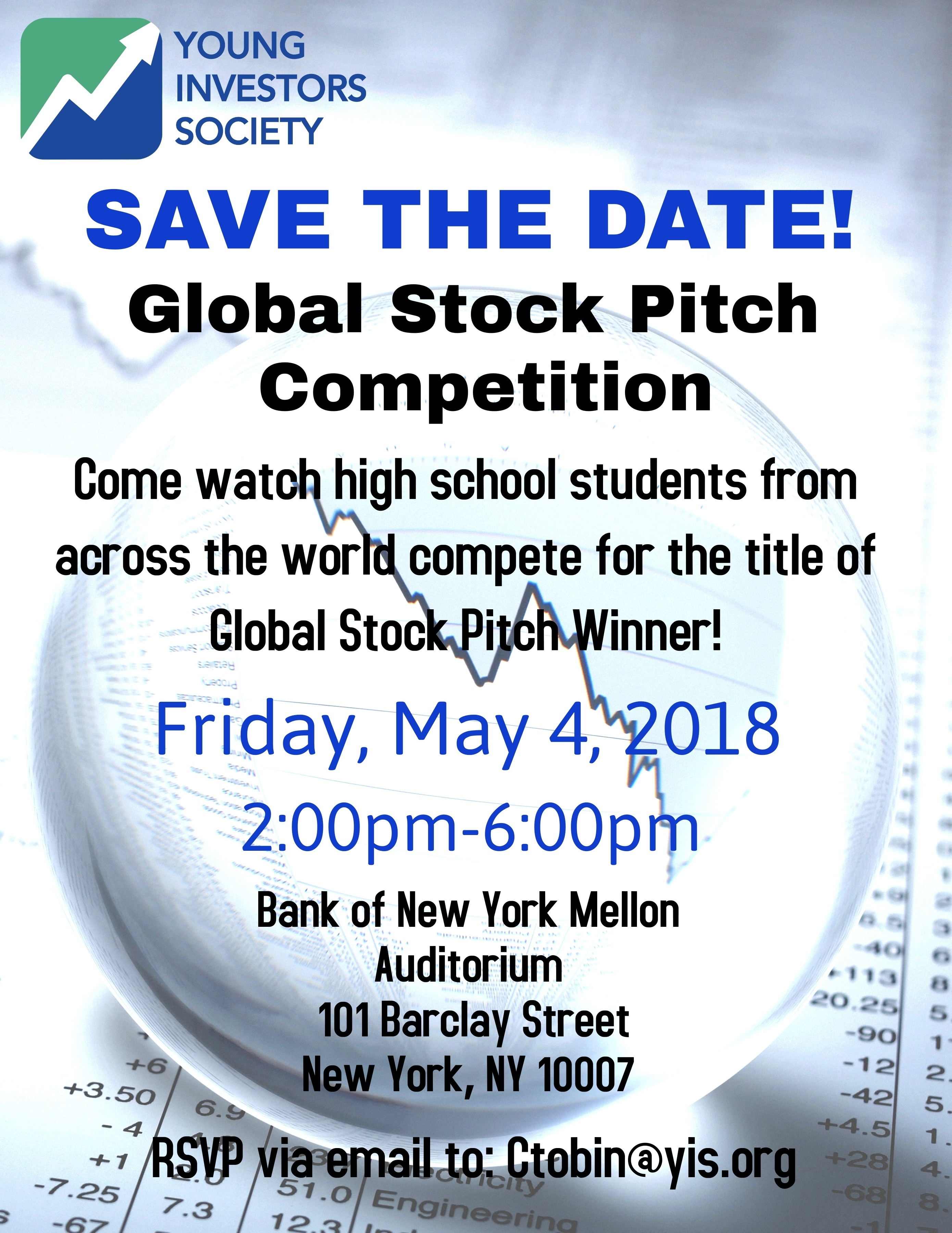 Save the Date: Global Stock Pitch Competition on May 4, 2018