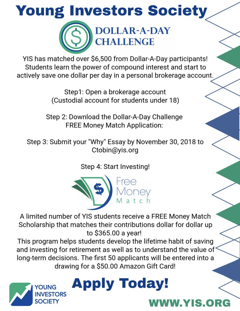 Second Round of the Dollar-A-Day Challenge Starts NOW!