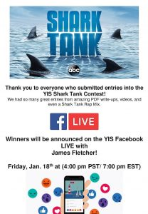 Shark Tank Winners will be Announced on Facebook LIVE 1/18 4:00 pm PST