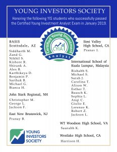 Congratulations to our YIS Students Who Successfully Passed the CYIA Exam