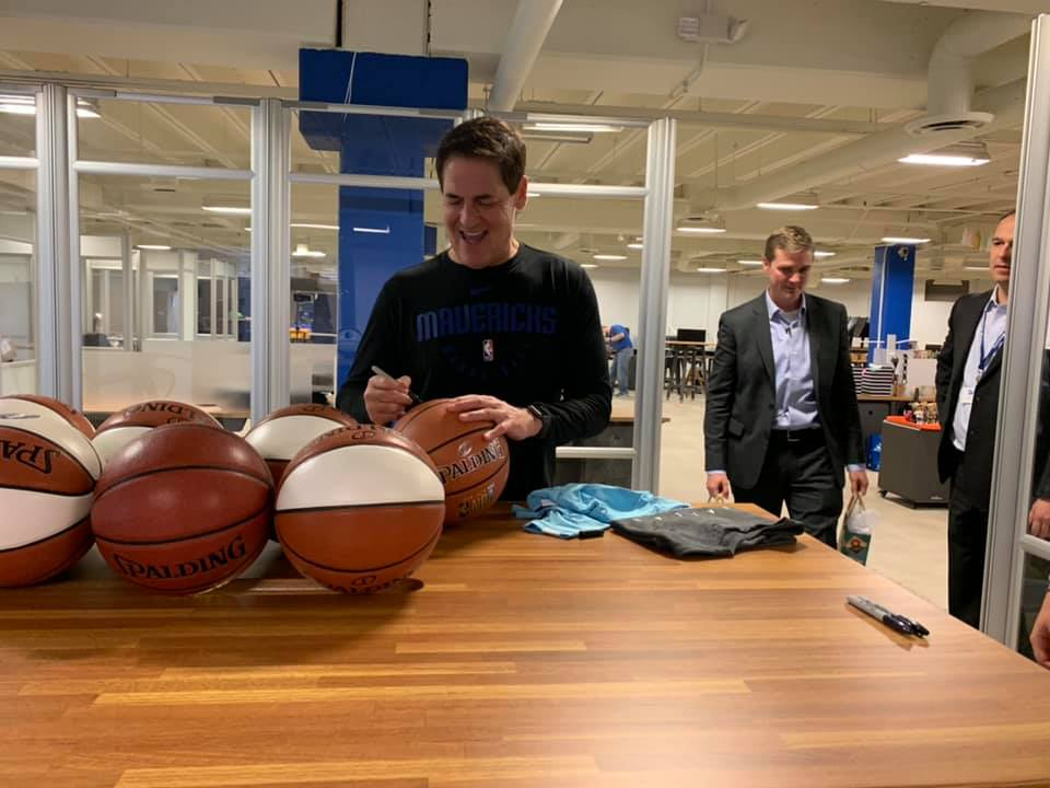 Shark Tank Contest Winners Get Signed Basketballs From Mark Cuban