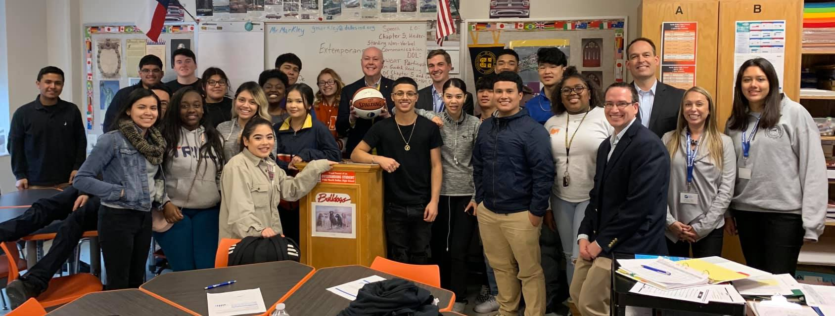Young Investors Society Visit North Dallas High School
