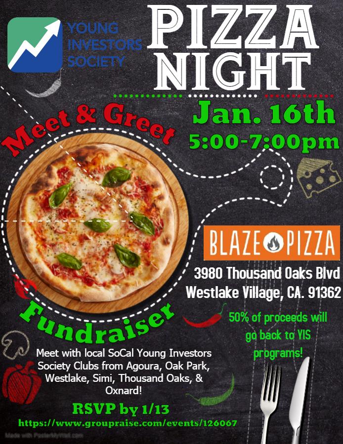 Meet & Greet Fundraiser on 1/16 in Westlake, CA