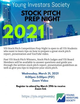 2021 YIS Stock Pitch Prep Night