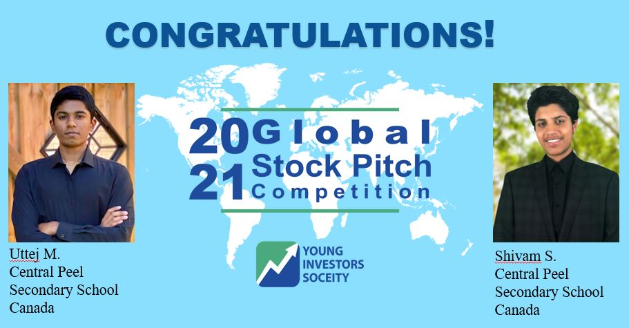 Congratulations to the 2021 YIS Global Stock Pitch Competition Winners!